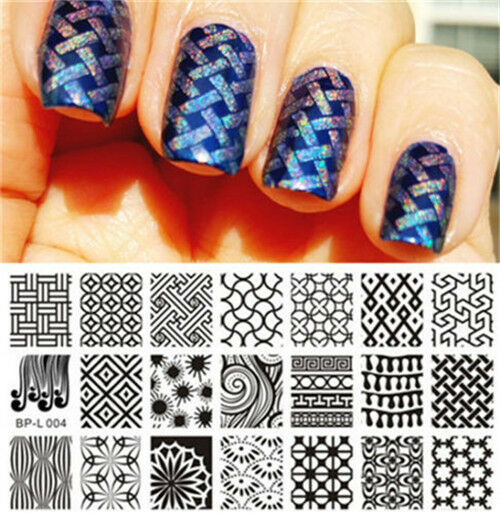 Born Pretty Nail Art Stamping Plate Kaleidoscope Designs Image ...