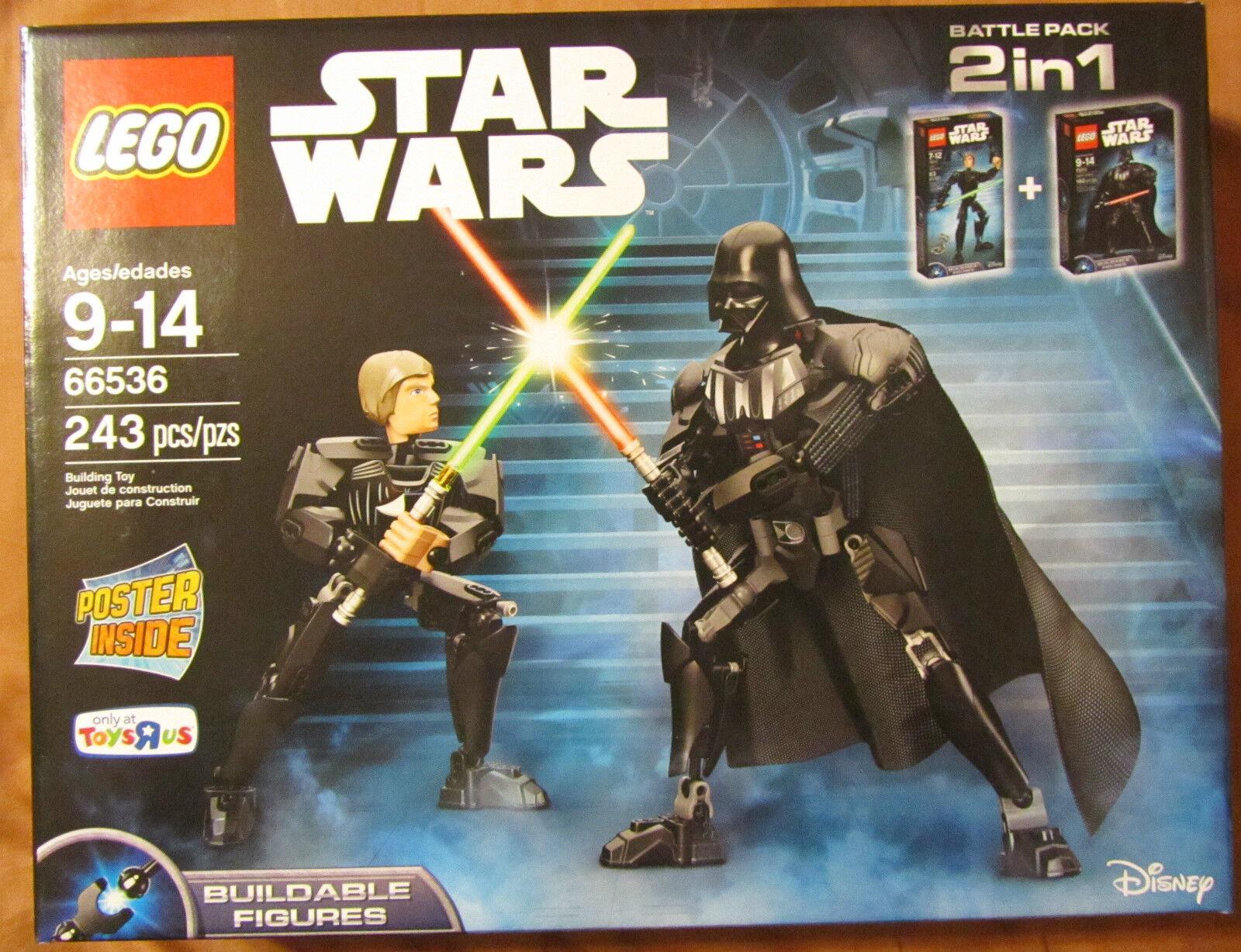 Lego Star Wars 66536 2 en 1 Darth Vader & Luke Skywalker  243 PIECES  Tru EXC