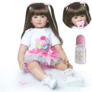 Reborn-Toddler-24in-Soft-Silicone-Reborn-Baby-Dolls-Girl-with-Long-Black-Hair-US