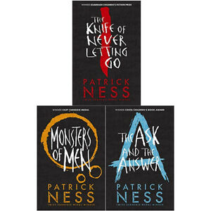 Patrick-Ness-Knife-of-Never-Monsters-of-Men-the-Answer-3-Books-Collection-Set