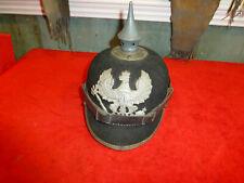 ORIG German helmet ww1 Kaiser pickelhaube spike spiked FELT SOLDIER'S HELMET