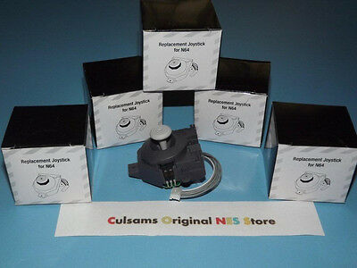 5 NEW NINTENDO 64 N64 JOYSTICK (THUMBSTICK) REPLACEMENT PART WITH  INSTRUCTIONS