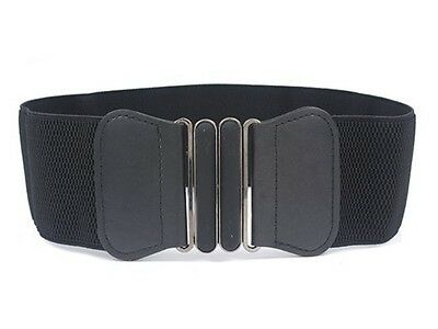 Womens Ladies Fashion Wide Elastic Stretch Corset Cinch Waistband Waist Belt