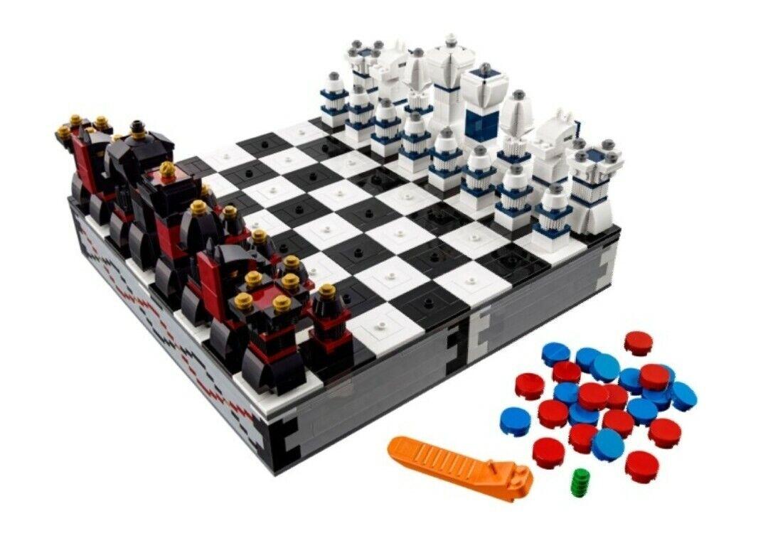 Lego Iconic 40174 Schachspiel 100% komplett mit der Bauanleitung Chess Dame TOP