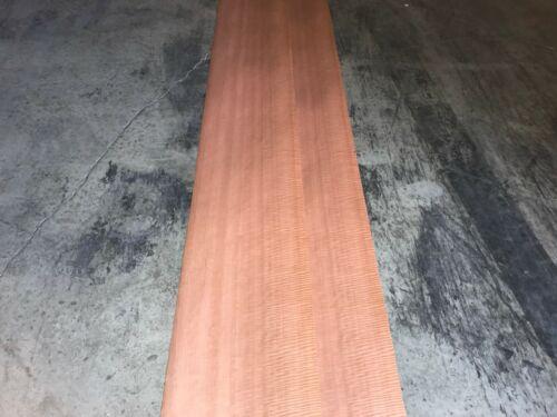 Fiddleback Makore Wood Veneer 4 Sheets. 14 x 113
