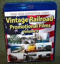 "20271 BLU-RAY HD TRAIN VIDEO ""VINTAGE RAILROAD PROMOTIONAL FILMS"" VOLUME 3"
