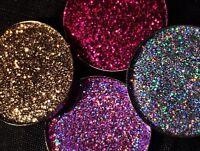 Sparkly Multi Tonal Pressed Glitter Eyeshadow Set Shine Bright Pink Gold Silver