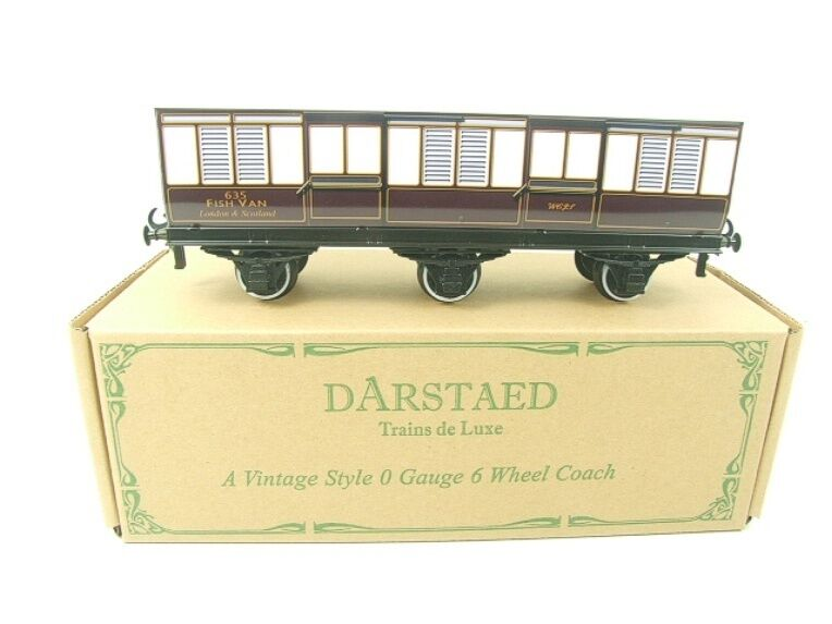 Darstaed O Gauge WCJS Six Wheel Fish Van R N 635 Brand New Boxed TSM Ltd