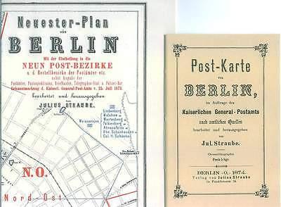 Berlin 1874 Plan Post-karte Postbezirke Verzeichnis Bestimmungen Preußen Rp MöChten Sie Einheimische Chinesische Produkte Kaufen?