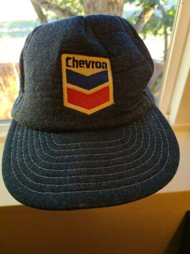 Vtg Denim Chevron Hat