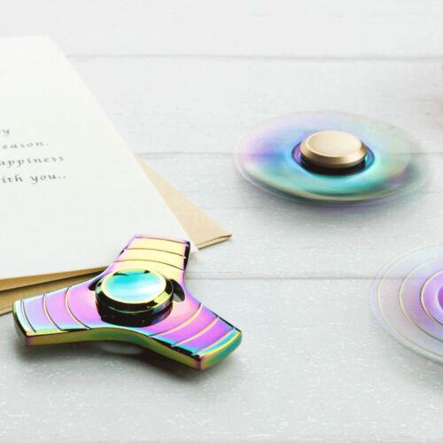 New EDC Hand Spinner Tri-Spinner Bearing Fidget Finger Gyro Kids Adult Focus Toy