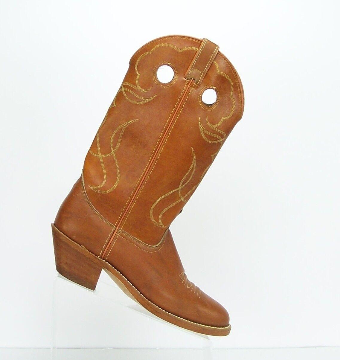 Western Cowboy Braun Faux Leder Uomo Pull On Stiefel  Uomo Leder Größe US 9.5 D Mad in USA a7a1f1