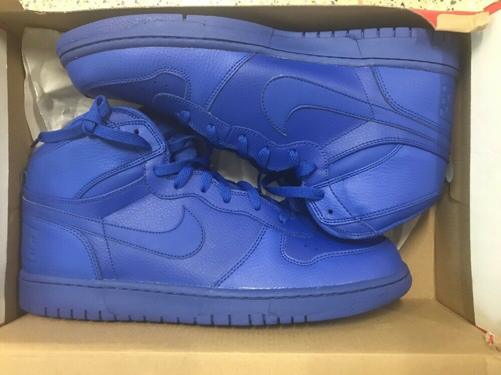 New BIG NIKE HIGH Basketball Casual Shoes 336608 440 Game Royal Comfortable Wild casual shoes