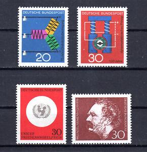1966 BRD  Mi.-Nr. 521-522  und 527  +  528