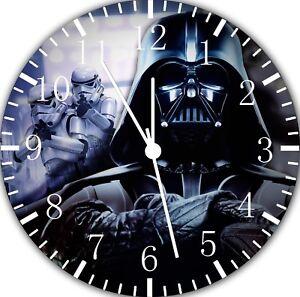 8c68a9c9f27 Image is loading Star-Wars-Darth-Vader-Frameless-Borderless-Wall-Clock-