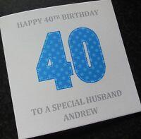 Personalised Male Birthday Card Husband/Dad/Grandad/Grandpa/Son etc ANY AGE(G39)