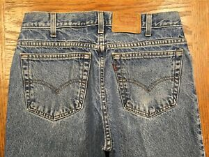 Meilleur O93 Levis 32x27 Hommes Husky Jeans Main Relaxed Taille 550 Fit Mesure Vintage 7PBcw7qr
