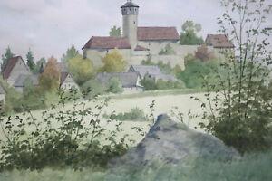 Gustav-Mueller-Aquarell-Sanspareil-von-Sueden-1922