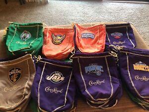 NBA crown royal sports Logo'd bags