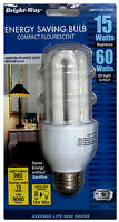 4x Cfl Energy Saving 15w Replacing 60w 120v 60hz 3000k Warm White Light E26 Bulb