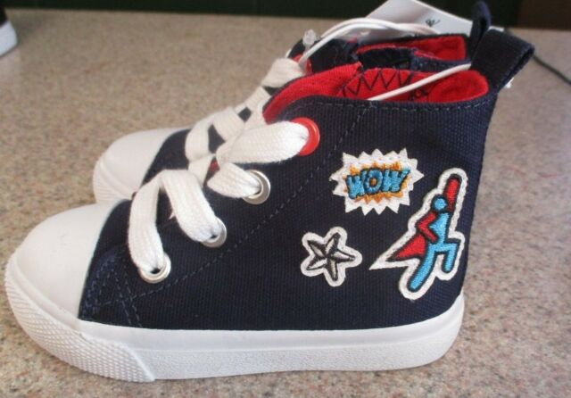 NWT Boys Cat /& Jack Lace up and Side Zip Shoes Choose Size