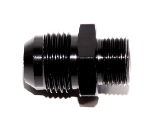 BLACK 10AN AN-10 to M18x1.5 NPT Male Thread Straight Aluminum Fitting Adapter