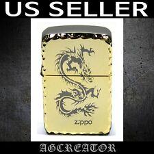 New Japan Korea zippo lighter 1941 dragon gold plated engraved US SELLER