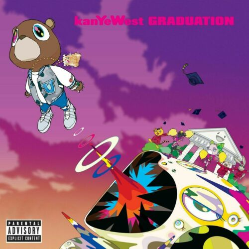 Kanye West Poster 14x14 24x24 Graduation Studio Album Art Cover G760