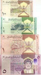 Oman Set 4 Pcs 100 Baisa 1/2 1 5 Rials 2020 / 2021 P New UNC
