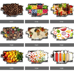 Image Is Loading Coffee Food Spices Fruits Vegetables 3D Art Kitchen