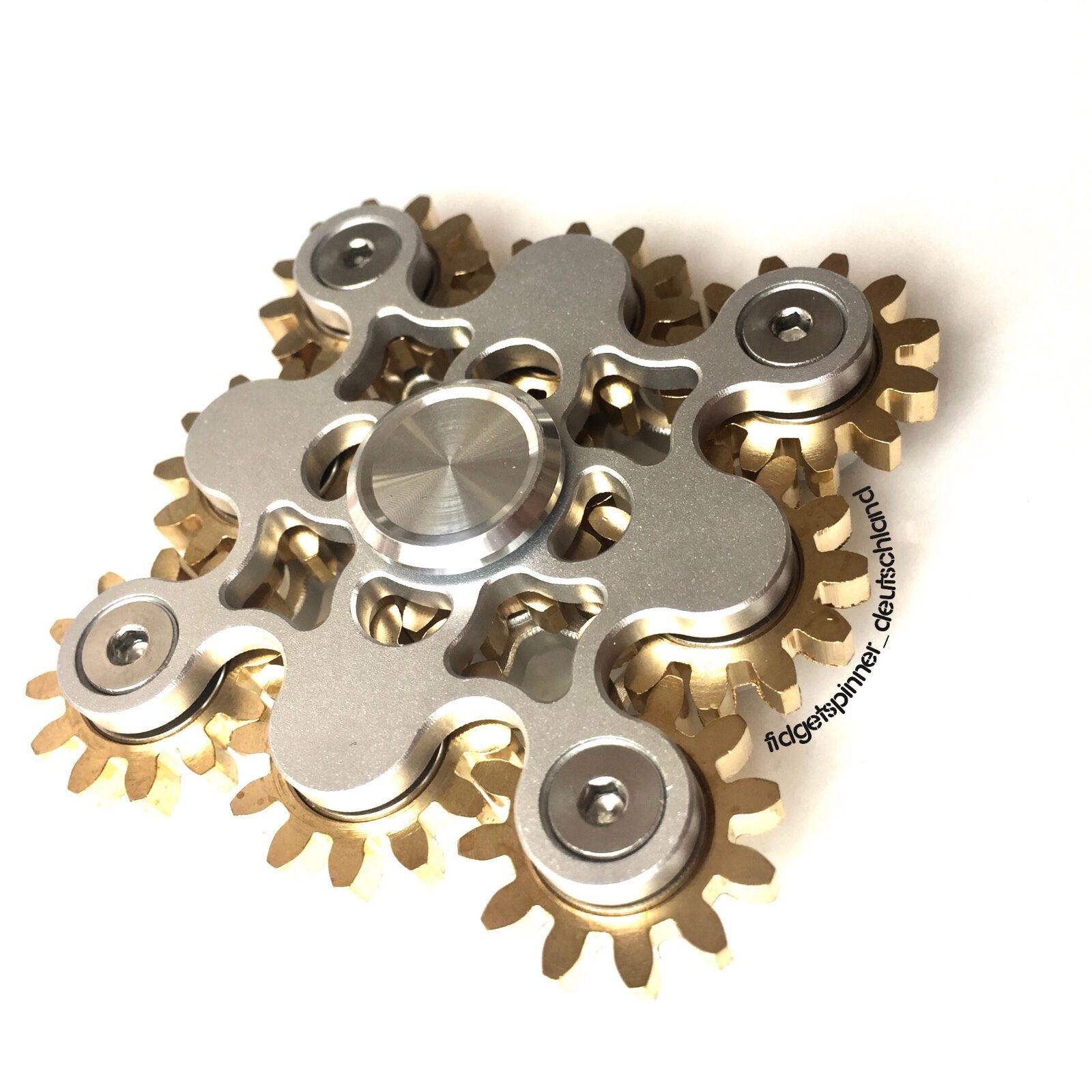 9 Zahnrad Fidget Spinner in black und silver   @fidgetspinner_deutschand