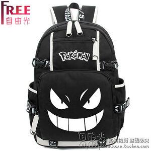 Anime-Pokemon-Go-Gengar-Backpack-Pocket-Monster-Travel-School-bag-B
