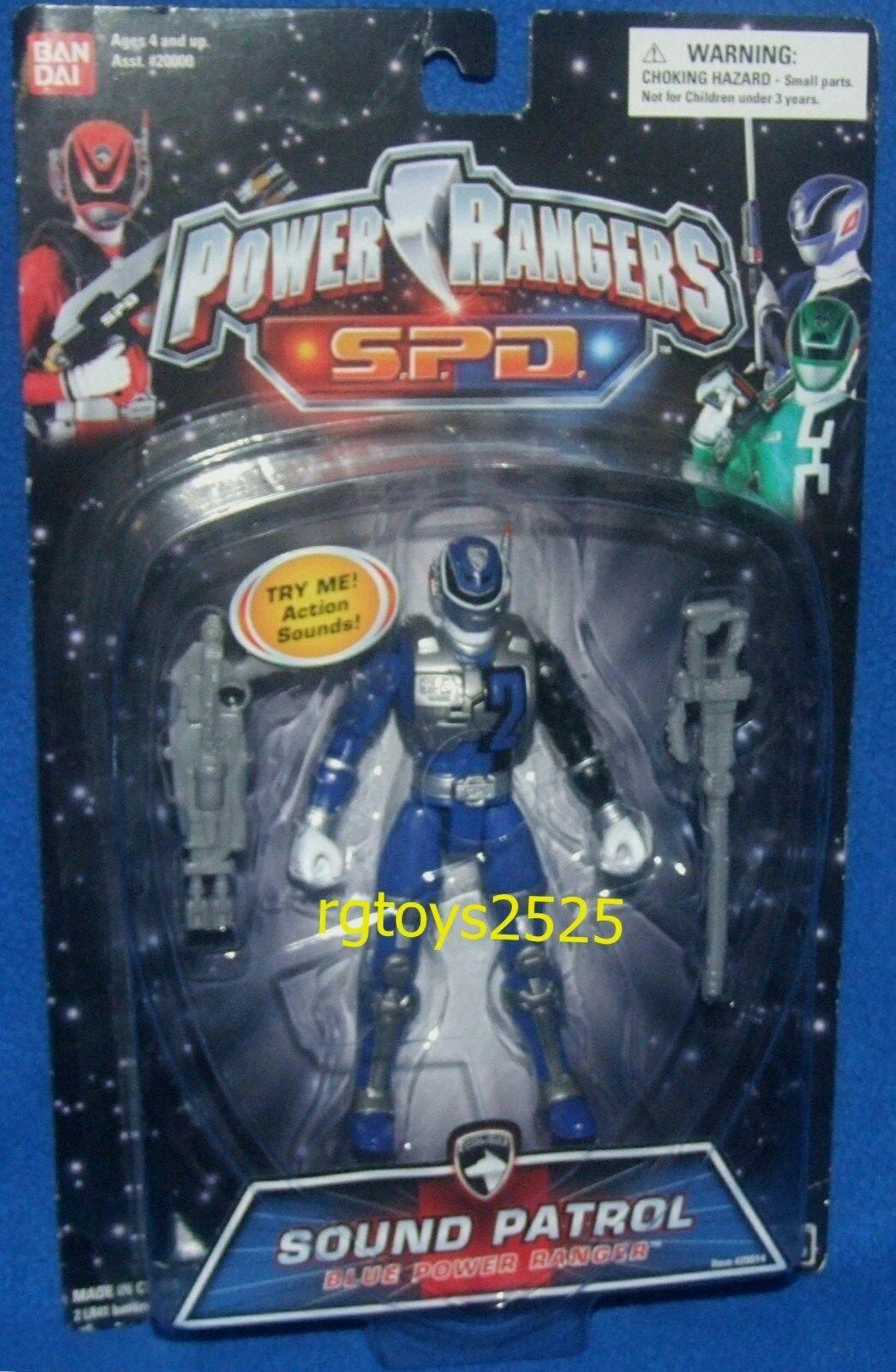 Power Rangers SPD Sound Patrol bluee bluee bluee 5  Ranger New Factory Sealed 2004 b0698f