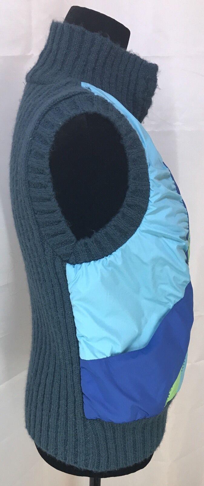 Free People Zipper Zipper Zipper Puffer With Down Multi color Vest In Size M bluee & Green 282114