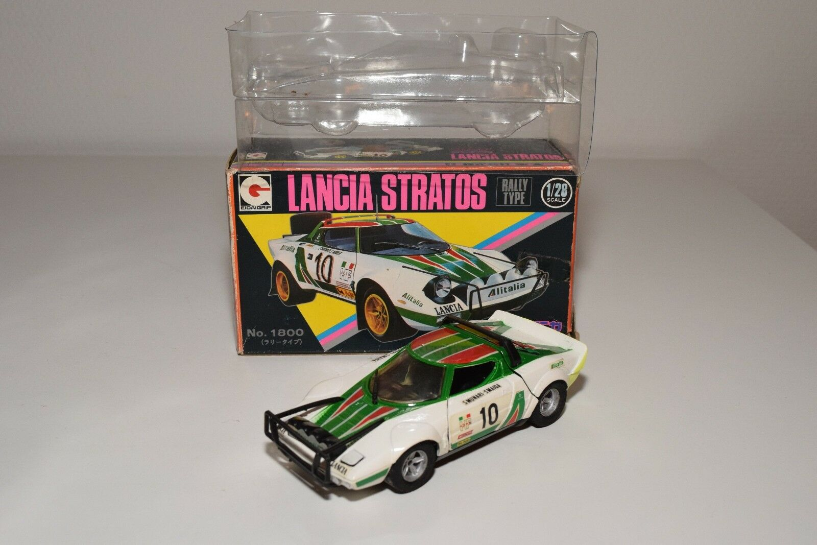 .  EDAI EIDAI GRIP 21 LANCIA STRATOS ALITALIA RALLY WHITE NEAR MINT BOXED RARE