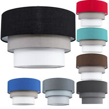 Modern Ceiling Pendant Lampshades Cotton Easy Fit 3 Tier Fabric Light Lamp Shade
