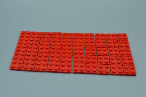 LEGO 50 x Basisplatte 2x2 rot red basic plate 3022 302221