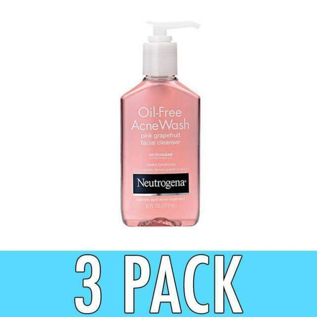 Neutrogena 6oz Oil Free Acne Wash Pink Grapefruit Facial Cleanser