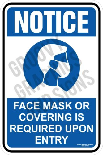 Please wear Face Mask,Do Not Enter,Social Distancing sticker,shop door,face mask