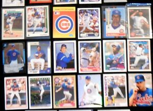 Lot-of-25-MLB-CHICAGO-CUBS-Baseball-Trading-Cards-assorted-players-amp-years