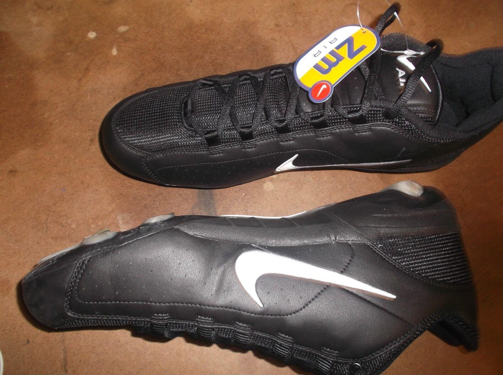 New Nike Air Zoom Barracuda Black football low cut cut cut cleats Mens 16 lacrosse 9c354c
