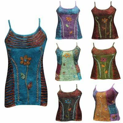 Hippy Goth Ladies Emo Blouse  Summer Festival Women Cami Tank Tops Vest T-Shirt