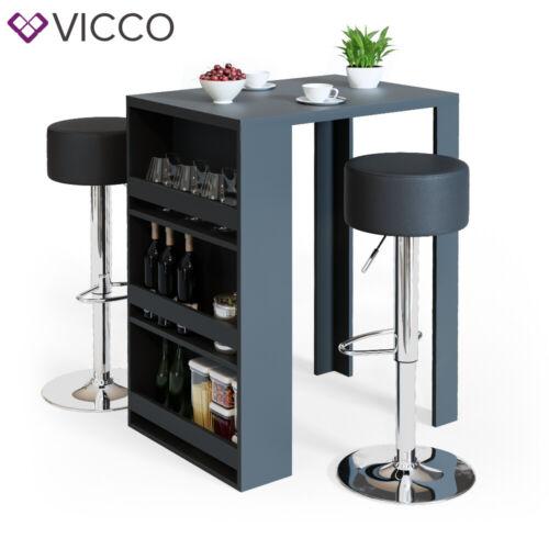 VICCO Bartisch Bartresen Stehtisch Tisch Tresentisch Bistrotisch Küche Anthrazit