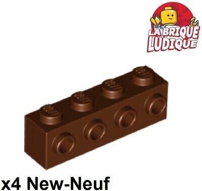 stecker Im 1 Side Braun/rd Braun 30414 Neu 4x Lego Ziegel Geändert 1x4 4 Lego