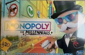 Monopoly for Millennials Millenials Millenial Edition Board Game Factory Sealed