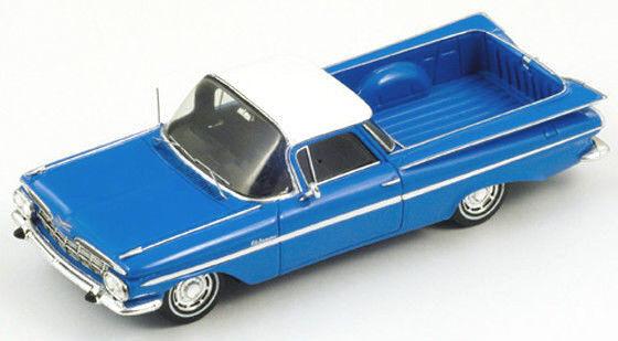 entrega rápida Maravilloso modelCoche Chevrolet Chevrolet Chevrolet Impala El Camino Pick-up 1959-Azul - 1 43  minoristas en línea