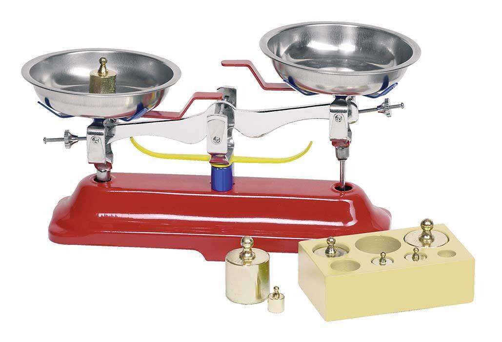 Waage Metallwage Kaufladenwaage 7 Gewichte GOKI 51891
