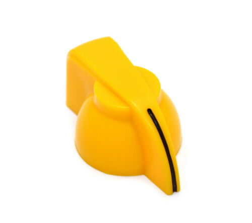 """2 Yellow Chicken Head Guitar//Amplifier//Pedal Knobs 1//4/"""" Solid Shaft P-K300Y"""