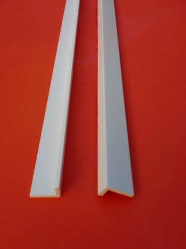 Winkel PVC Profil 2m  20x12-100x60 Flach Abdeck-leiste Kunststoff-leisten