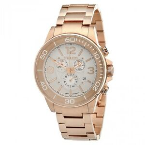 2adb656c7ce4 MULCO CHRONOGRAPH DAY DATE ROSE GOLD-TONE ST.STEEL MEN S WATCH MW4 ...